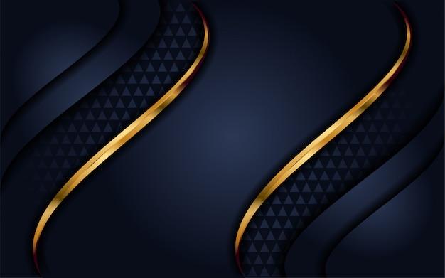 Eleganter marineblauhintergrund mit deckschicht Premium Vektoren
