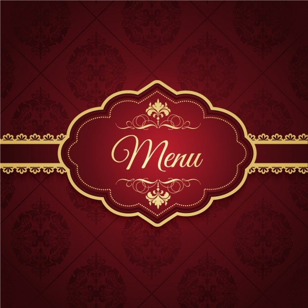 Eleganter menu design Kostenlosen Vektoren
