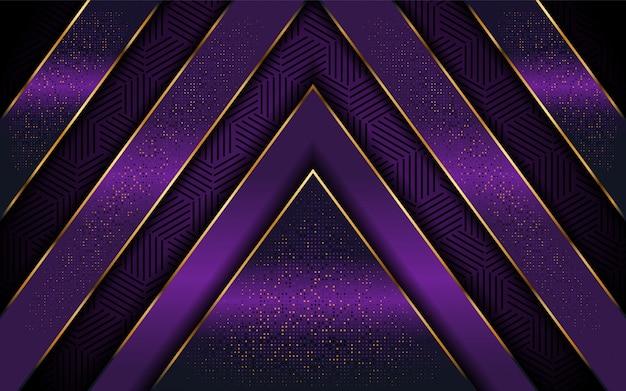 Eleganter purpurroter hintergrund mit luxuriöser linie form Premium Vektoren