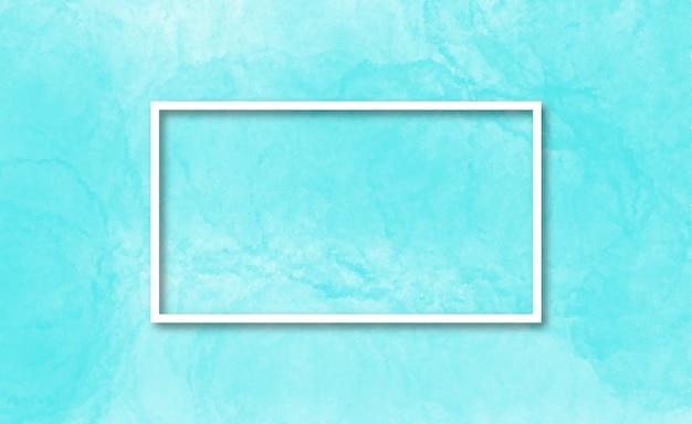 Eleganter rahmen in einem hellblauen aquarellhintergrund Kostenlosen Vektoren