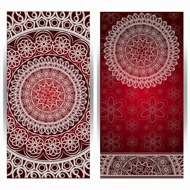 Eleganter save the date kartenentwurf. vintage floral einladungskarte vorlage. luxusstrudel-mandala-grußkarte. Premium Vektoren