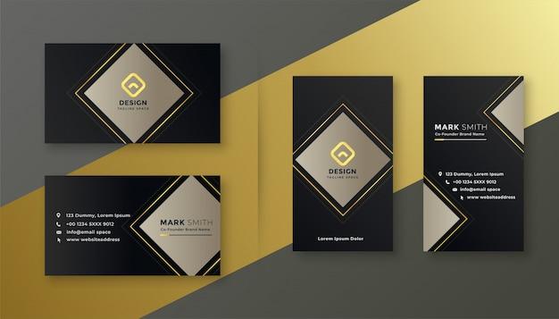 Eleganter schwarzer visitenkarteschablonensatz Kostenlosen Vektoren