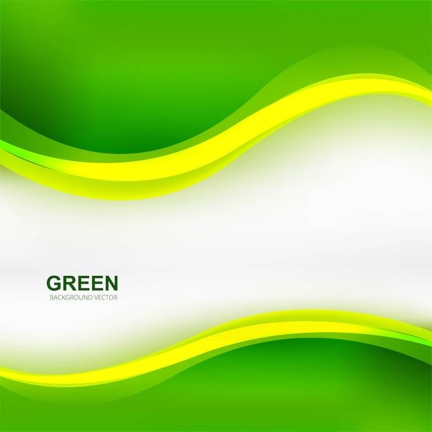 Eleganter stilvoller grüner wellenhintergrund Kostenlosen Vektoren