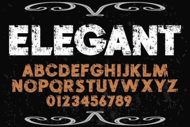 Elegantes alphabet Premium Vektoren