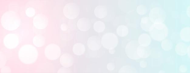 Elegantes bokeh-banner in weicher farbe mit textbereich Kostenlosen Vektoren