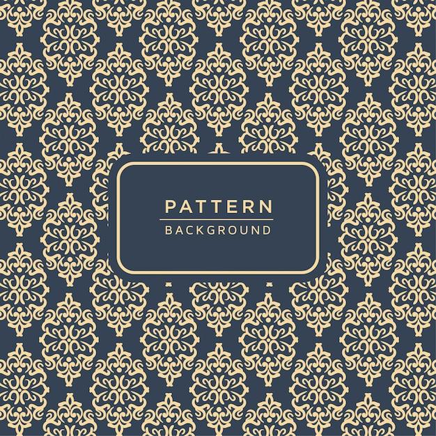Elegantes dekoratives barockmuster Premium Vektoren