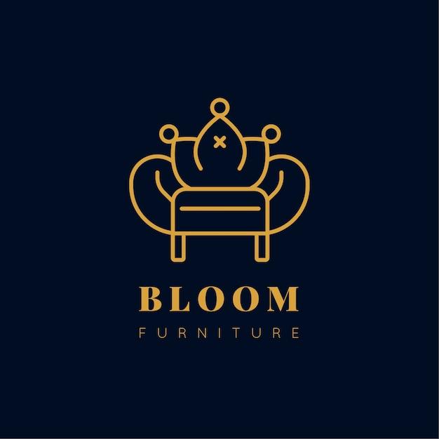 Elegantes design möbel logo Premium Vektoren