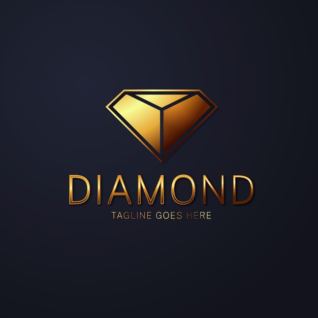 Elegantes diamant-logo Kostenlosen Vektoren