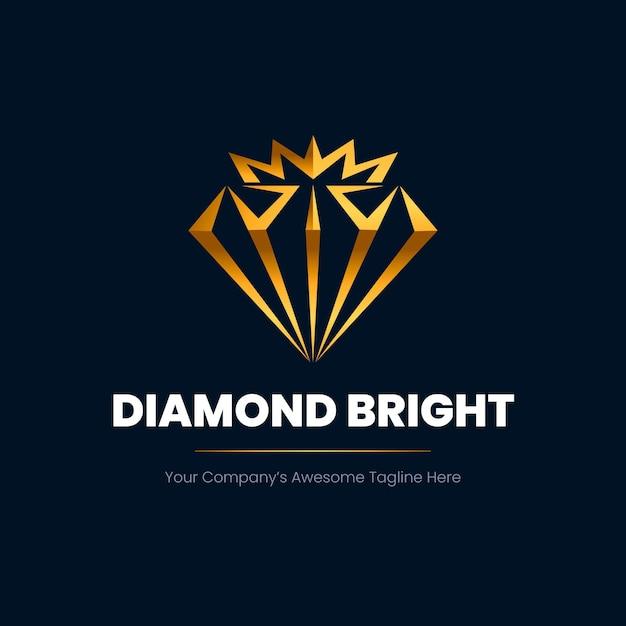 Elegantes diamant-logo Premium Vektoren