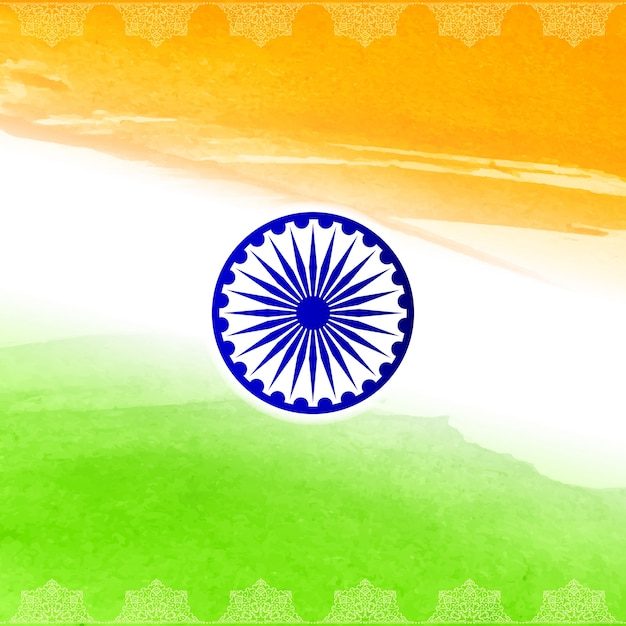 Elegantes indisches flaggenentwurf Kostenlosen Vektoren