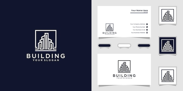 Elegantes logo und visitenkarten-design Premium Vektoren