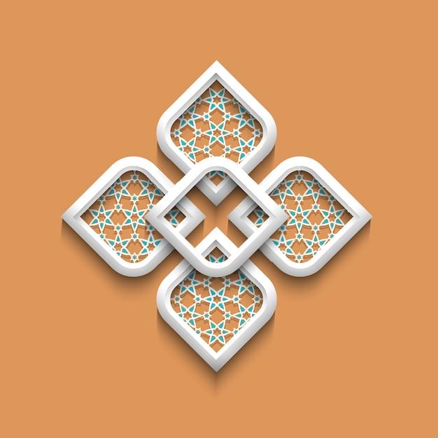 Elegantes muster 3d in der arabischen art Premium Vektoren