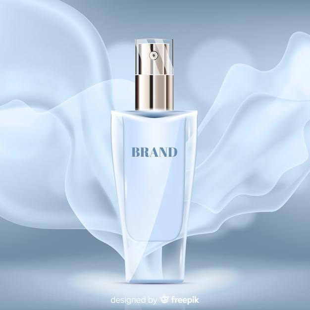 Elegantes parfüm auf abstraktem hintergrund Kostenlosen Vektoren