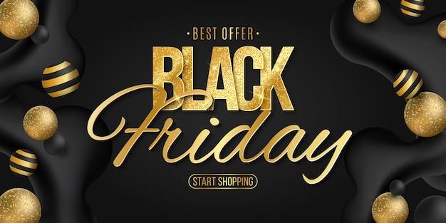 Elegantes plakat für black friday. kommerzielle geschäftsveranstaltung. flüssige dynamische formen. vektor. eps 10 Premium Vektoren