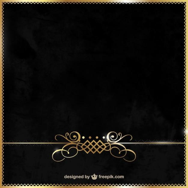 elegantes schwarz und gold hintergrund download der kostenlosen vektor. Black Bedroom Furniture Sets. Home Design Ideas