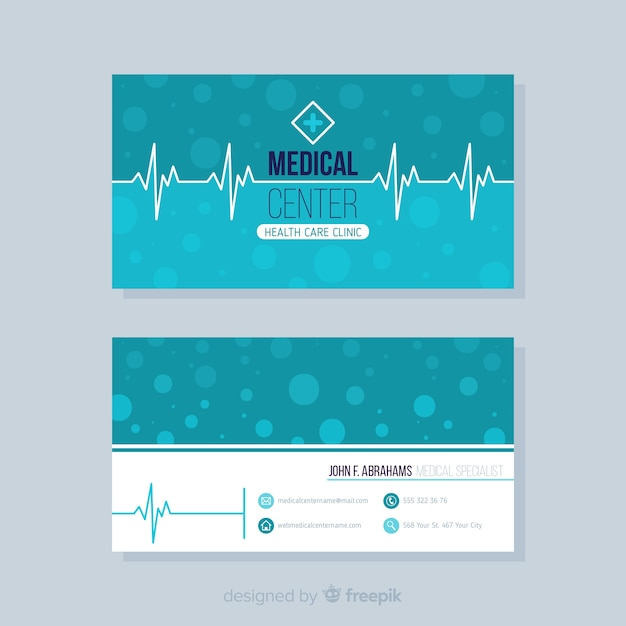Elegantes visitenkartekonzept für krankenhaus oder doktor Kostenlosen Vektoren