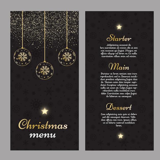 Elegantes weihnachtsmenüdesign Kostenlosen Vektoren
