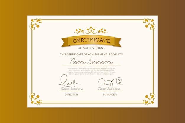 Elegantes zertifikatvorlagenthema Kostenlosen Vektoren
