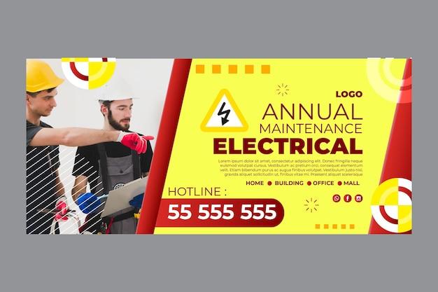 Elektriker banner vorlage Kostenlosen Vektoren