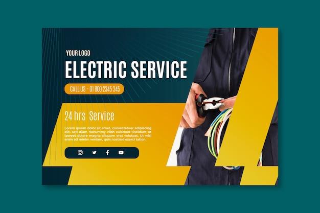 Elektriker service banner vorlage Kostenlosen Vektoren
