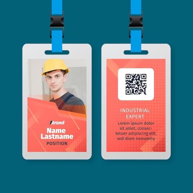 Elektriker service id karte vorlage Kostenlosen Vektoren