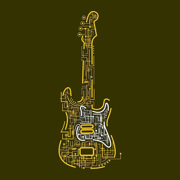 Elektrische gitarre Premium Vektoren