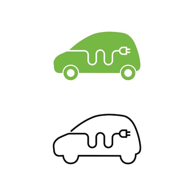 Elektroauto mit elektrischer Ladekabel-Symbol | Download der Premium ...