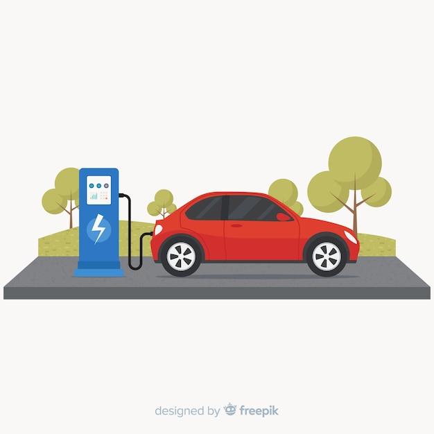 Elektroauto Kostenlosen Vektoren