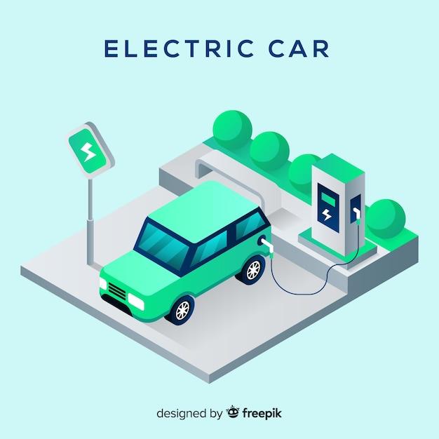 Elektroauto Kostenlose Vektoren