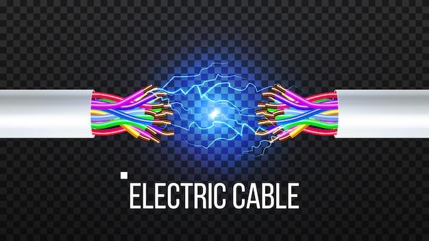 Elektrokabel abziehen Premium Vektoren