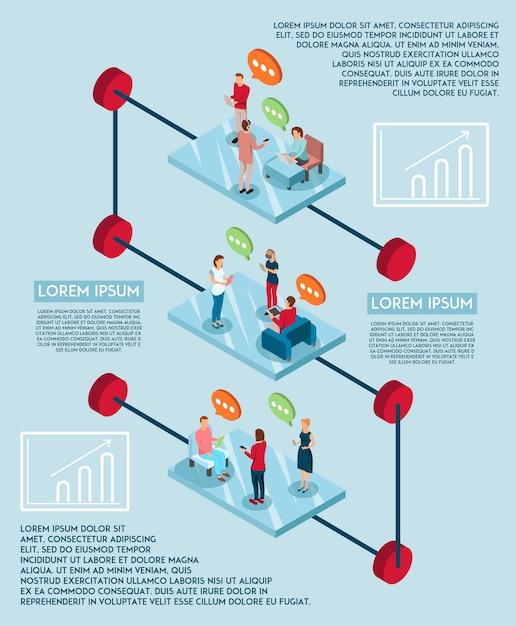 Elektronische sprache infographic-konzept Kostenlosen Vektoren