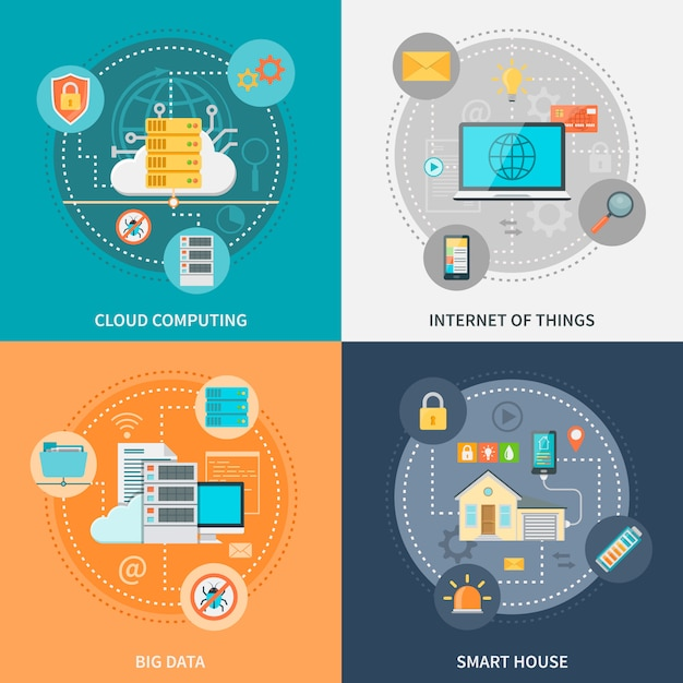 Elektronische systeme für sicherheit und komfort Kostenlosen Vektoren