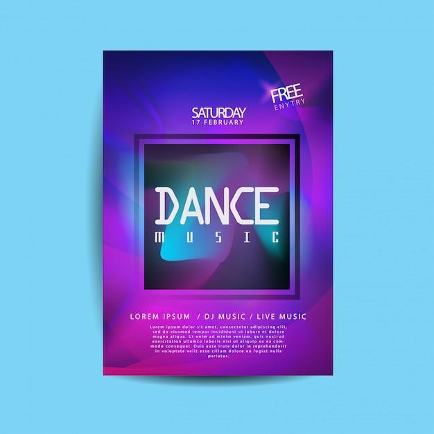 Elektronische tanzmusik flyer Premium Vektoren