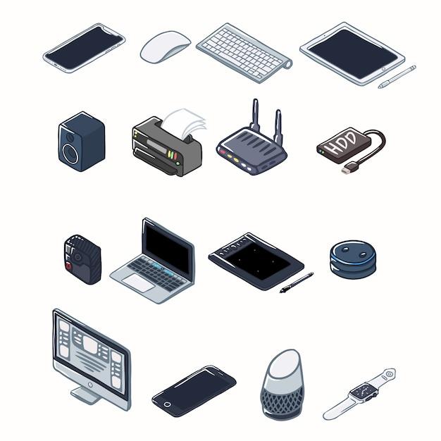 Elektronisches gerät Premium Vektoren