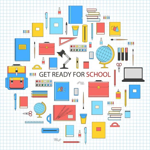 Elemente der schule Premium Vektoren