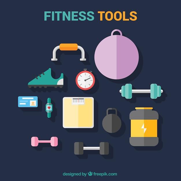 Elemente, um fit zu werden Premium Vektoren