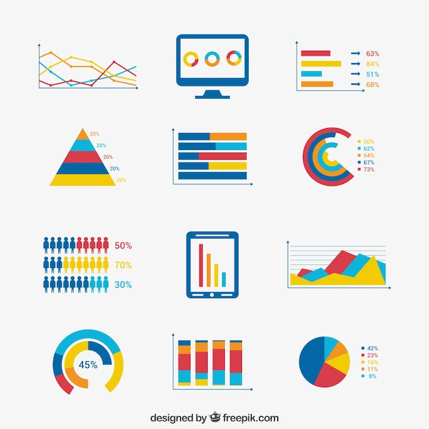 Elements of infografik business Kostenlosen Vektoren