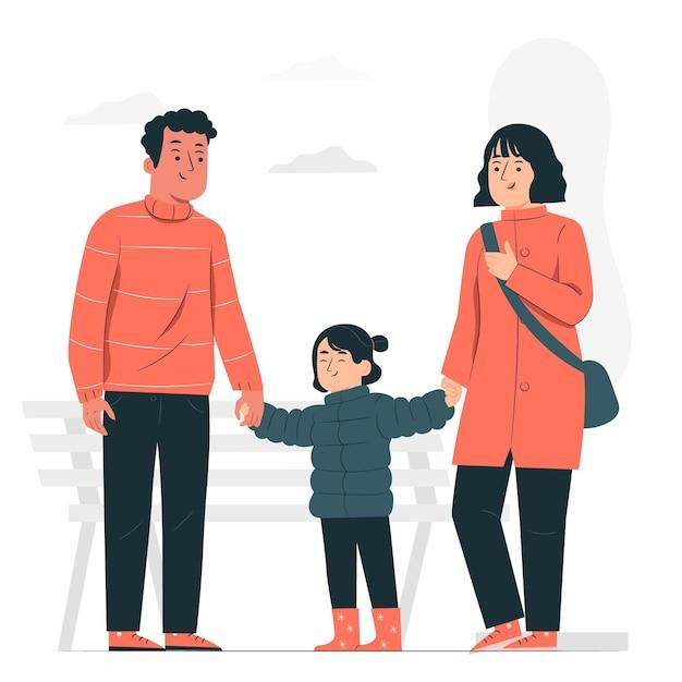 Elternkonzeptillustration Kostenlosen Vektoren