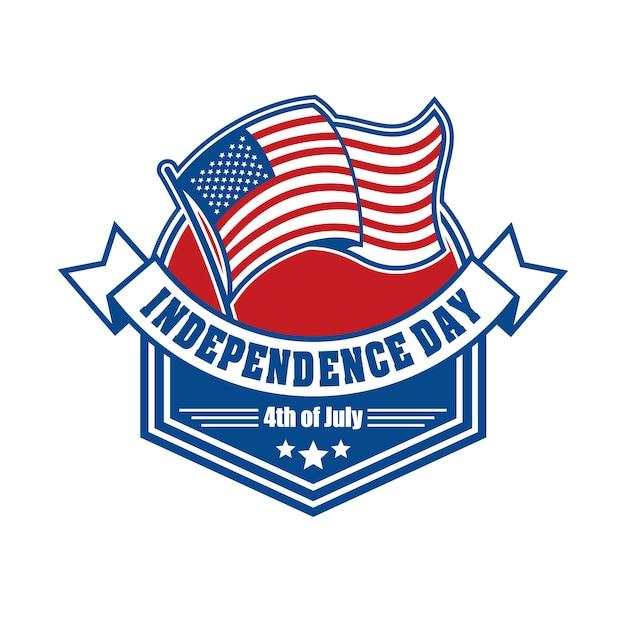 Emblem und symbol für den us-unabhängigkeitstag Premium Vektoren