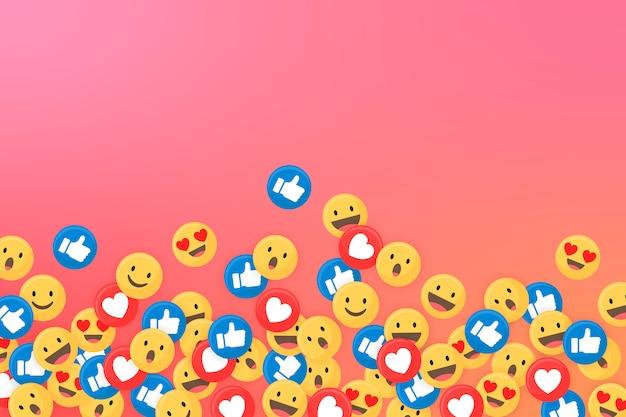 Emoji gerahmter hintergrund Kostenlosen Vektoren