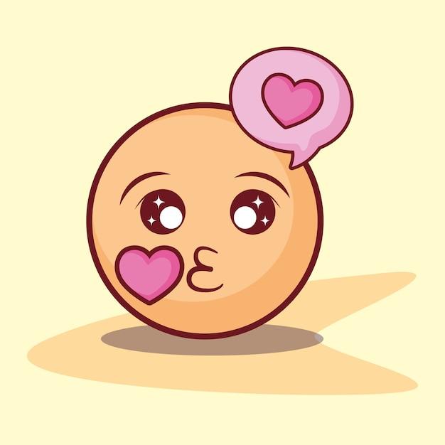 Emoticon kuss liebe blase online dating Premium Vektoren
