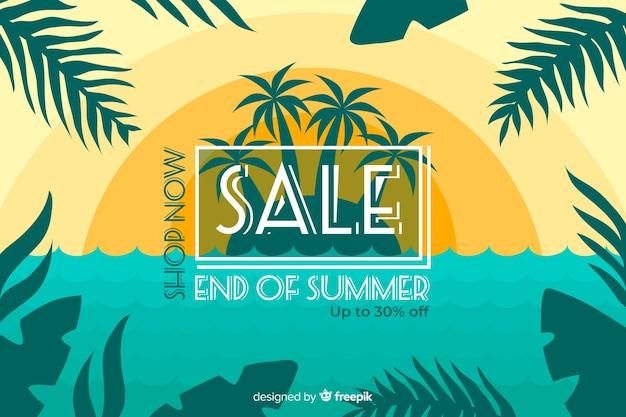 Ende der sommerschlussverkauf hintergrund Kostenlosen Vektoren