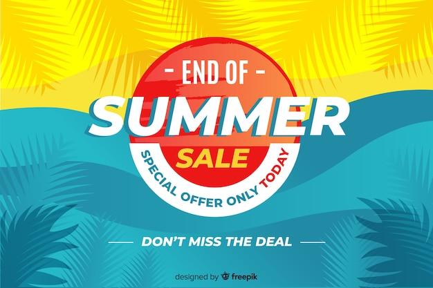 Ende des sommerschlussverkaufhintergrundes Kostenlosen Vektoren