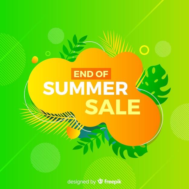Ende des sommerschlussverkaufs hintergrund Kostenlosen Vektoren