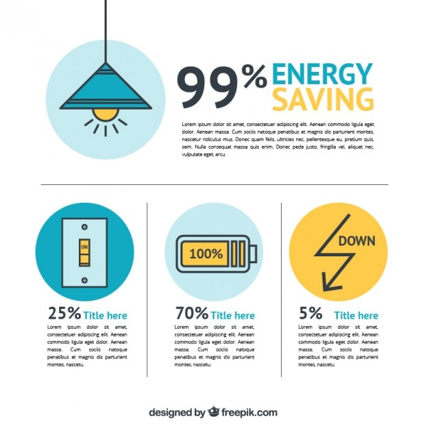 Energiesparende elemente Premium Vektoren