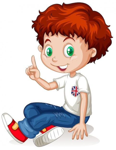 Englischer junge mit roten haaren Kostenlosen Vektoren