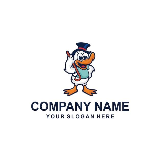 Ente cartoon logo vektor Premium Vektoren