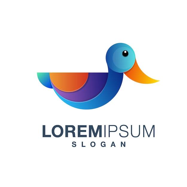Enten-logo Premium Vektoren