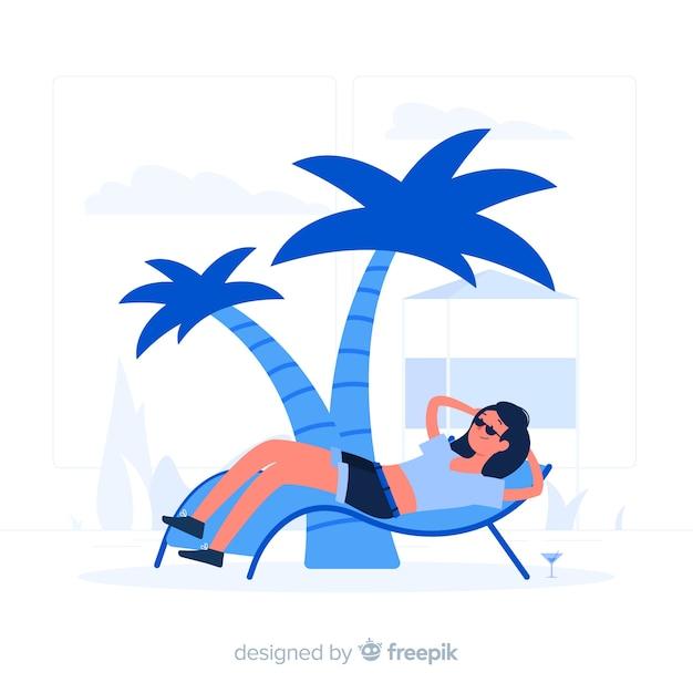 Entspannung konzept illustration Kostenlosen Vektoren