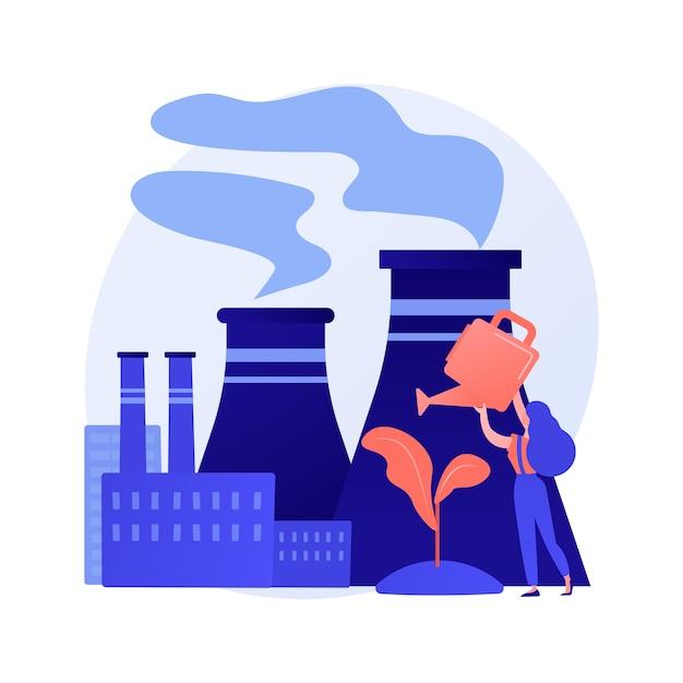 Entwaldungs- und abholzungsproblem. stadtverschmutzung und naturökosystem Kostenlosen Vektoren
